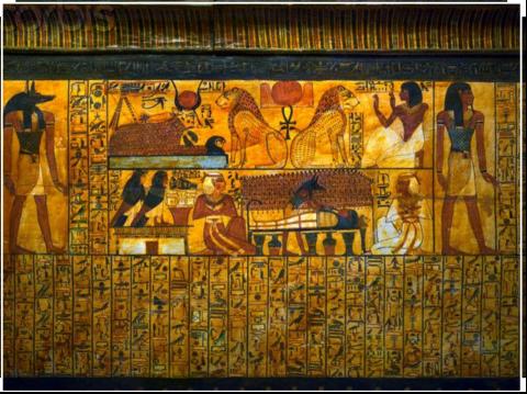 Coffin of Senedjem Detail